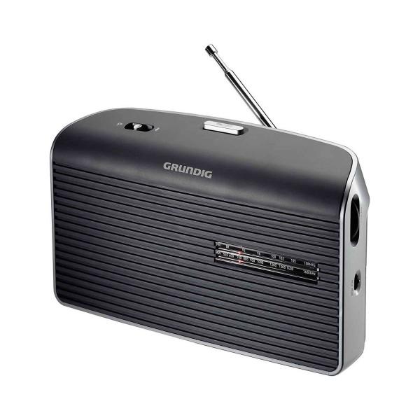 Grundig music 60 gris radio am/fm de sobremesa portátil con altavoz