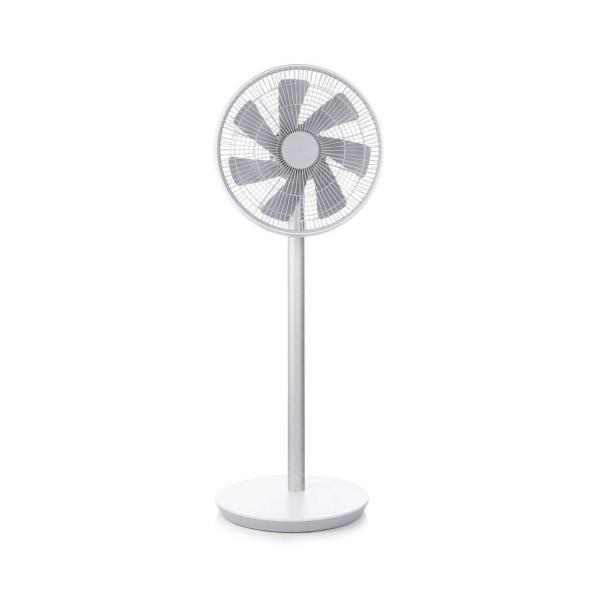 Xiaomi mi smart fan blanco plata ventilador inteligente inalámbrico controlable por app ultrasilencioso de diseño minimalista