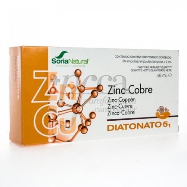 DIATONATO 5-1 ZINC COBRE 28X 2ML R17032