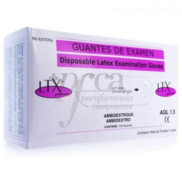 GUANTES LTX LATEX AQL 1.5 T/XP 100U