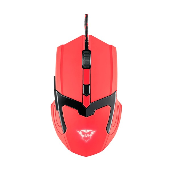 Trust gxt 101-sr spectra ratón rojo gaming mouse usb 2.0 / 6 botones / iluminación led cambiante / dpi max 4800 ppp