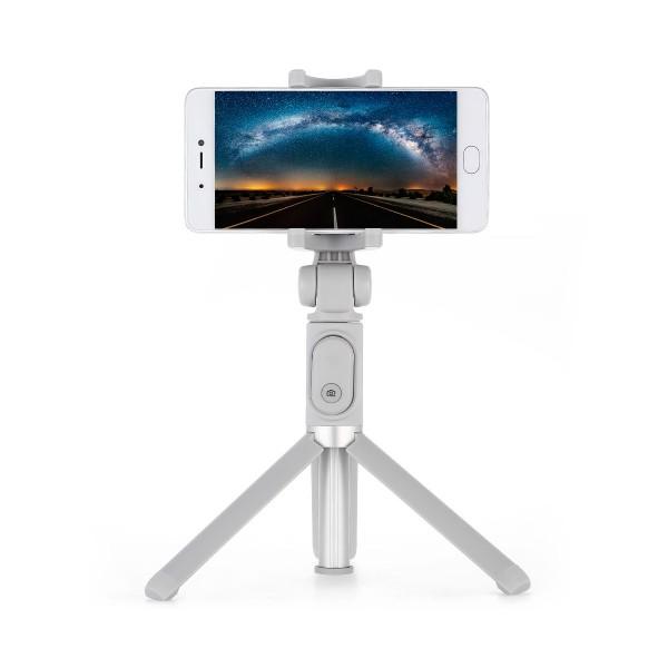 Xiaomi tripod selfie stick blanco palo selfie + tripode con control remoto bluetooth