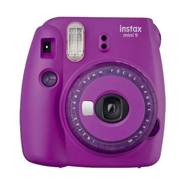 Fujifilm instax mini 9 clear púrpura cámara instantánea con flash