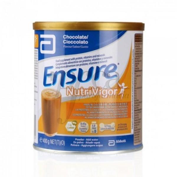 ENSURE NUTRIVIGOR LATA 400 G CHOCOLATE