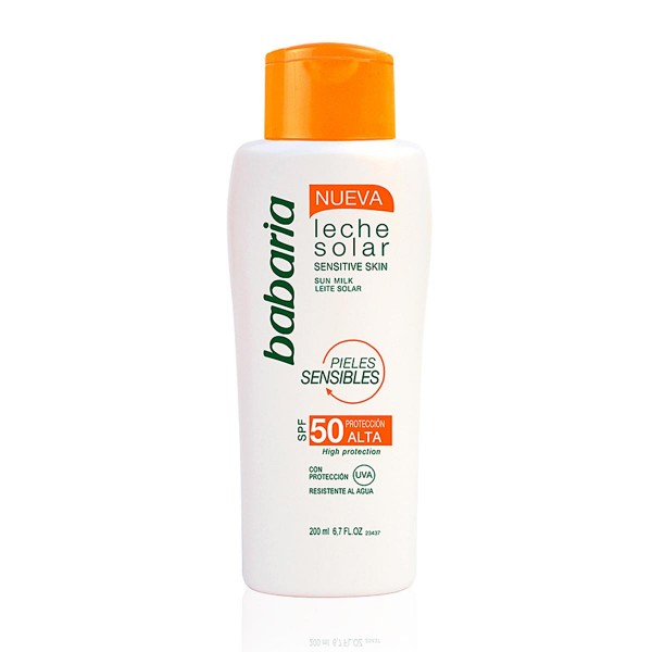 Babaria sensitive skin leche corporal spf50 sensitive skin waterproof 200ml