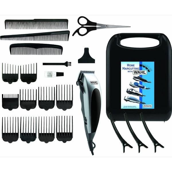 Wahl 9243-2216 kit cortapelos con cable + tijeras + 3 peines + 10 peines-guía